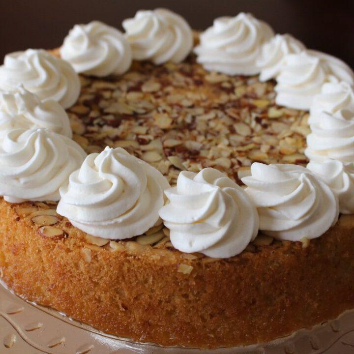 RAVANI CAKE: ORANGE & ALMOND SEMOLINA CAKE WITH A HONEY SYRUP