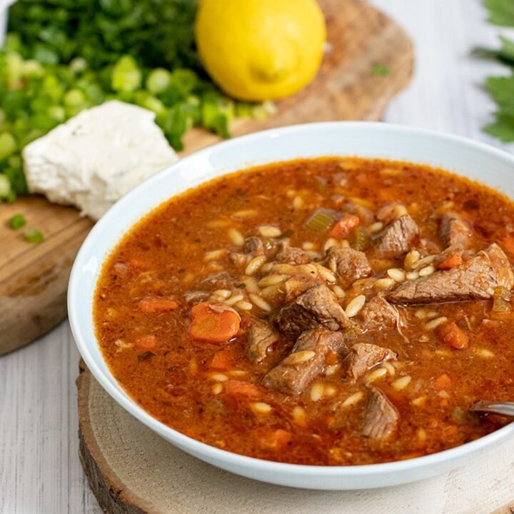 GREEK-LAMB AND ORZO SOUP/STEW