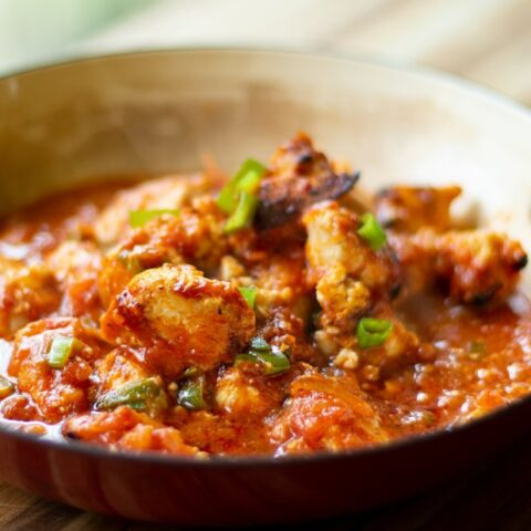 CHICKEN SAGANAKI (30 MINUTE MEAL): GREEK STYLE CHICKEN IN A TOMATO & FETA SAUCE
