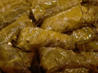 Dolmades With Lamb Rice Grape Leaves Stuffed With Lamb And Rice Dimitras Dishes
