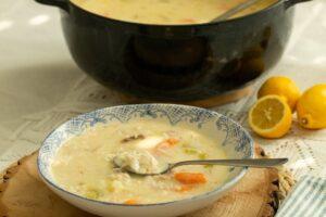 Lemony Fish Soup: Psarosoupa