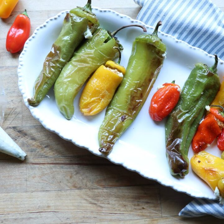 ROASTED PEPPERS STUFFED WITH FETA