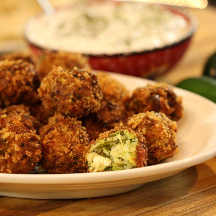 Zucchini Meatballs: Greek Kolokithokeftedes