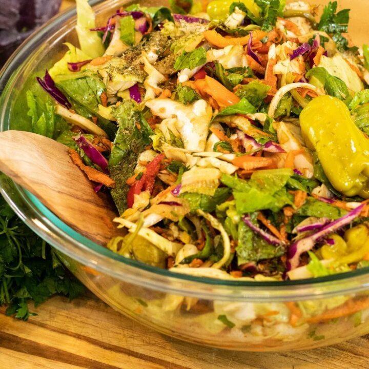 Greek Fall Cabbage Salad