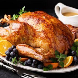 Holiday Roast Turkey With Gravy