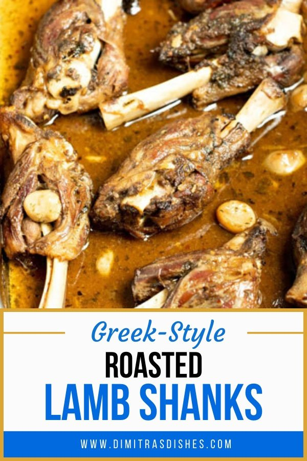 Easy Greek-style roasted lamb shanks