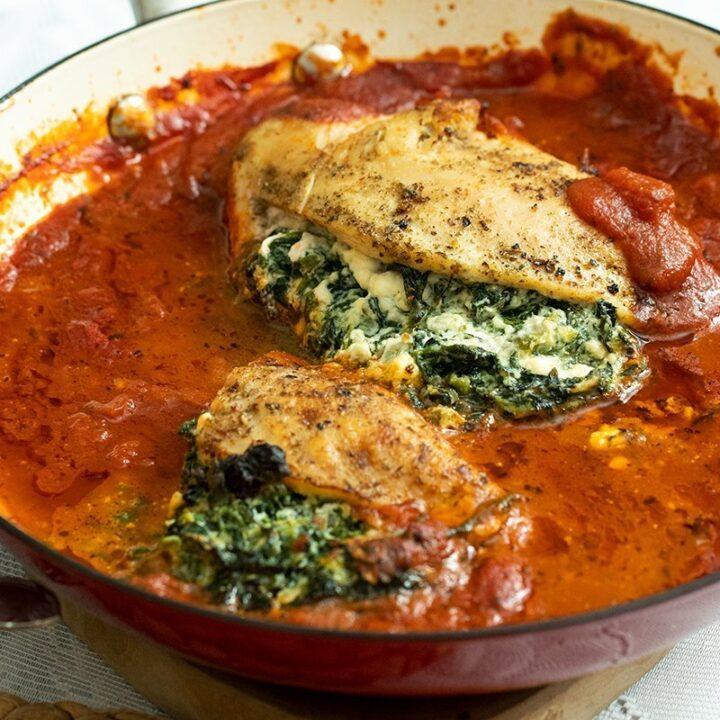 Spinach & Feta Stuffed Chicken Breast