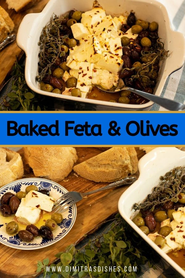 Easy and healthy Baked Feta and Olives