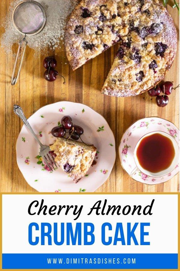 Great fall dessert - cherry almond crumb cake