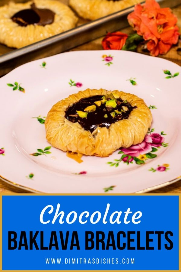 Easy and elegant chocolate baklava bracelets