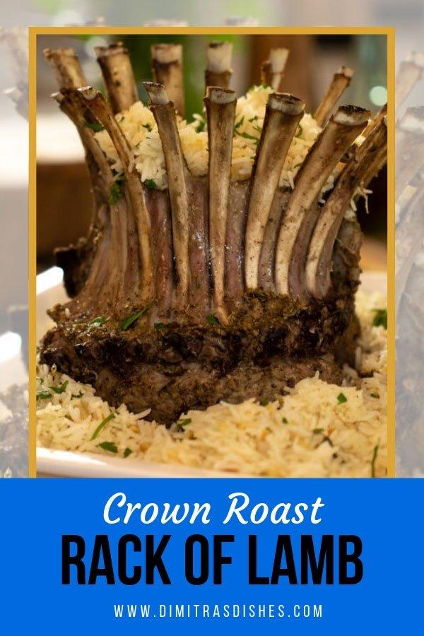 Impressive Greek crown roast rack of lamb