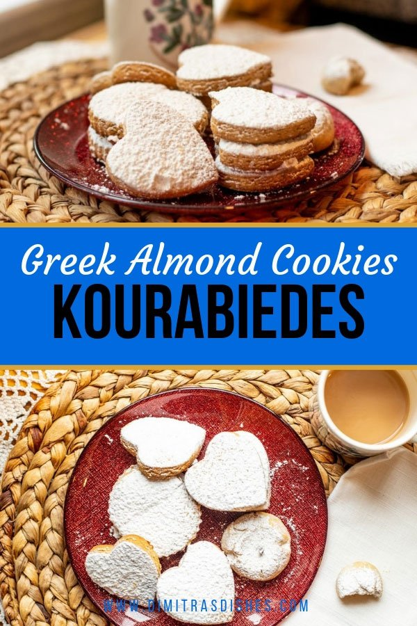 Kourabiedes - easy and delicate Greek almond cookies