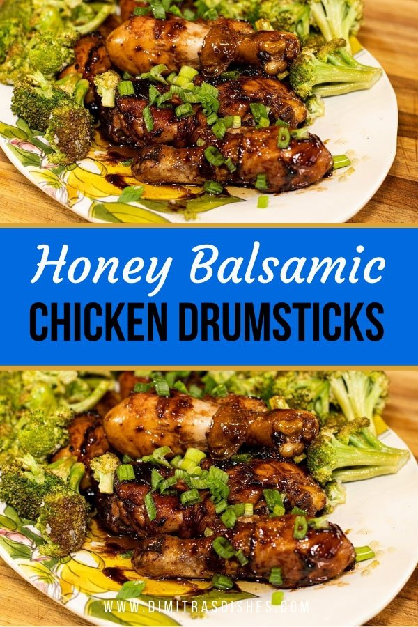 Quick and easy honey balsamic chicken drumstick