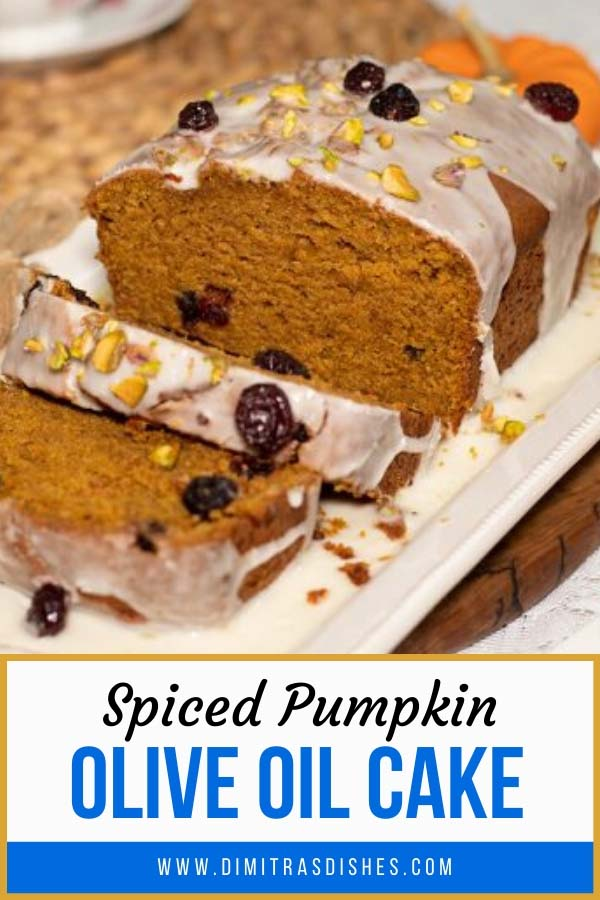Moist and healthy spiced pumpkin olive oil cake