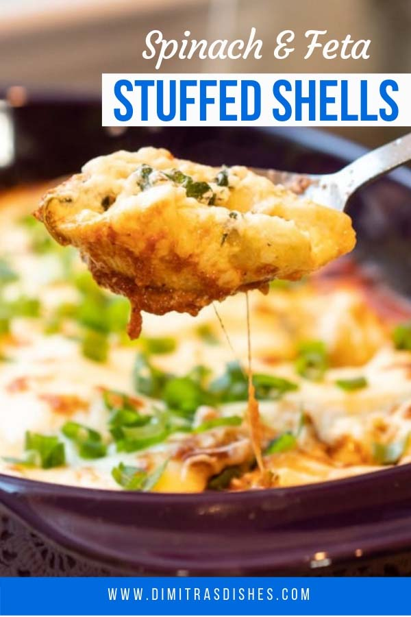 Quick and easy spinach and feta stuffed shells