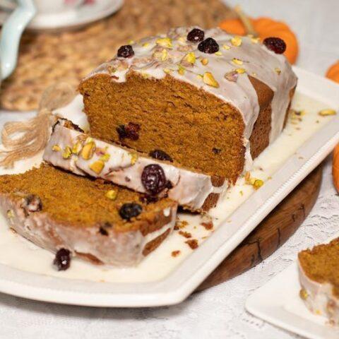 Spiced Pumpkin & Orange Loaf Cake