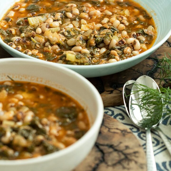 Black-Eyed Peas with Spinach & Fennel