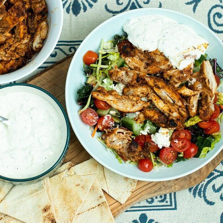 Greek-Style Chicken Gyro Bowl