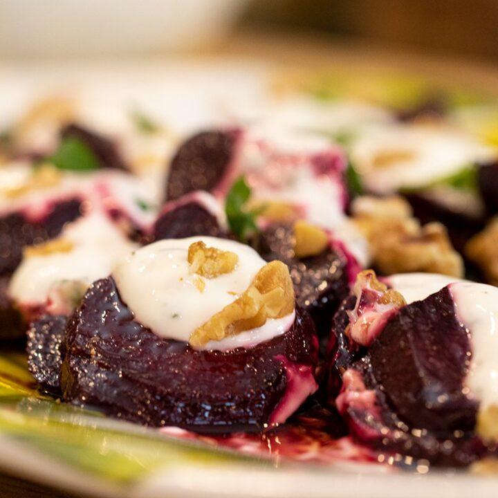 Greek Beet & Yogurt Salad: Pantzarosalata