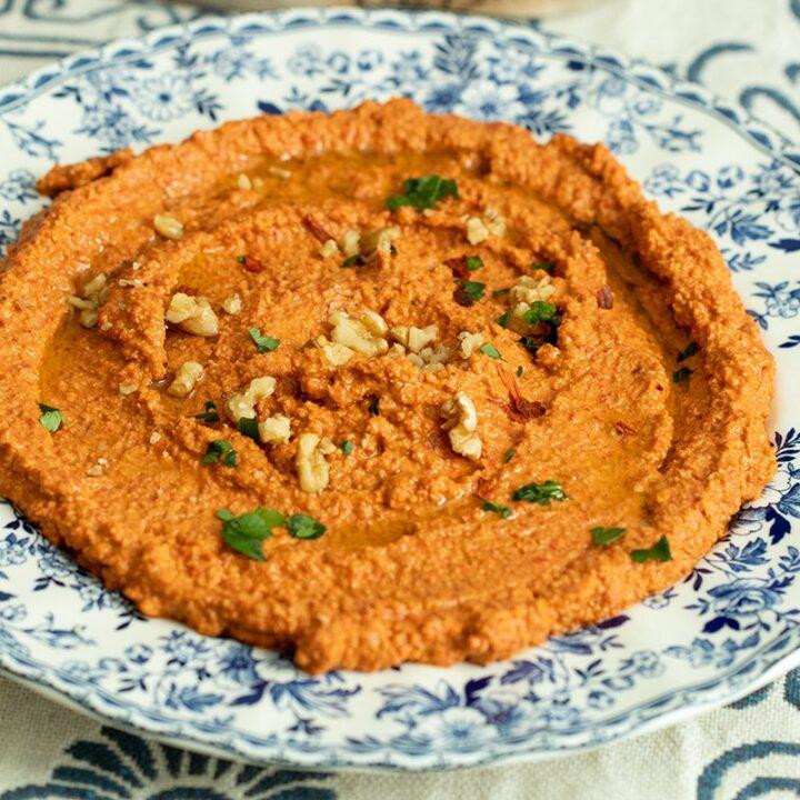Muhammara Recipe: Red Pepper & Walnut Dip