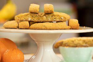 Orange Almond Olive Oil Biscotti Greek Vegan Paximadia Dimitras Dishes