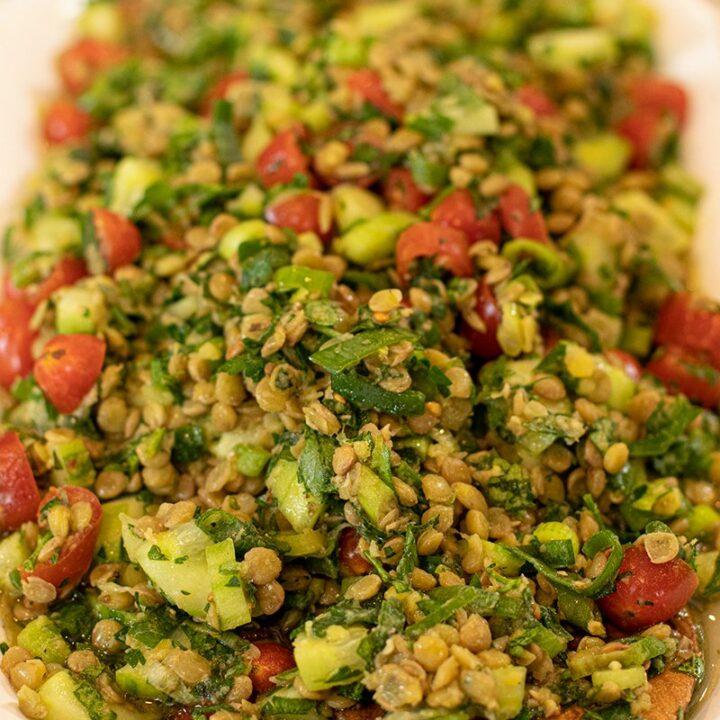 Greek Lentil Tabbouleh Salad