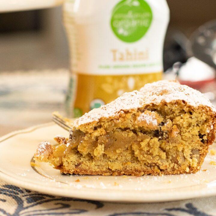 Tahinopita: Greek Vegan Tahini Cake