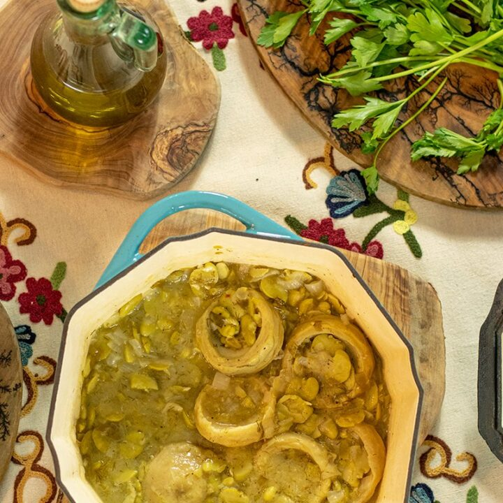 Greek Artichoke & Fava Bean Stew: Ready in 30 mins!