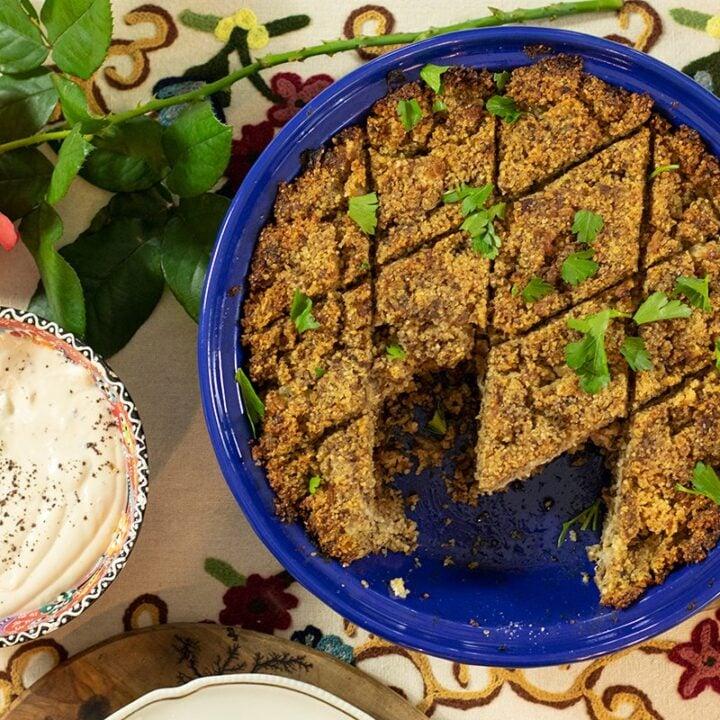 Greek Kibbeh (Koupes) Pie