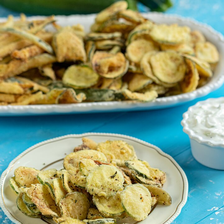 Greek Fried Zucchini Chips