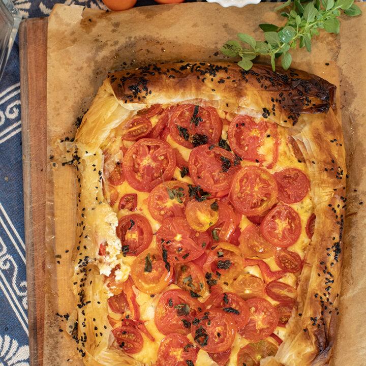 Tomato & Feta Phyllo Tart