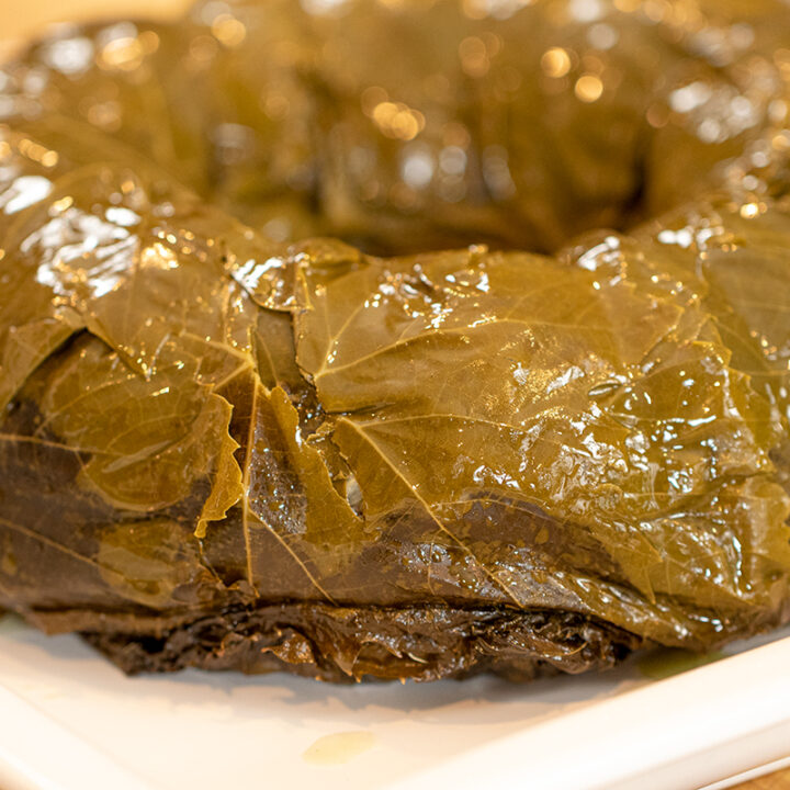 Exohiko From Thessaloniki Stuffed Grape Leaves Bundt Ring Dimitras Dishes
