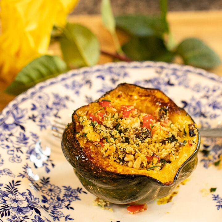 Mediterranean Stuffed Acorn Squash