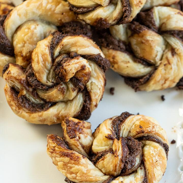 Nutella Puff Pastry Spirals