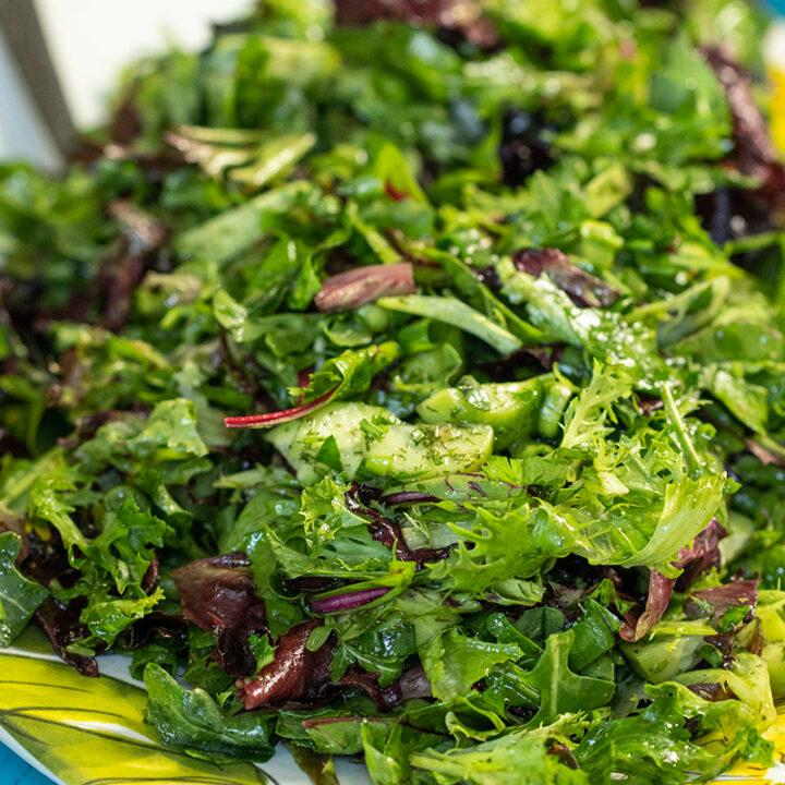 Chopped Greek Lettuce Salad