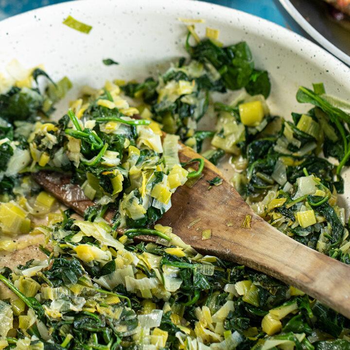 Mediterranean Spinach & Leeks