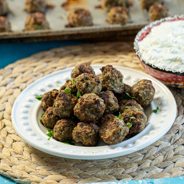 Broiled Greek Meatballs: Keftedes