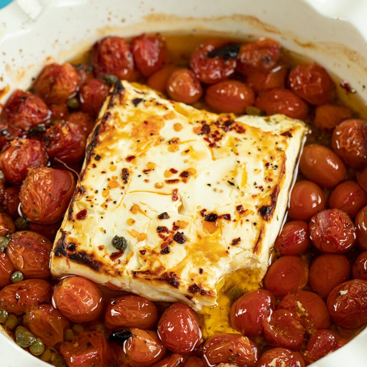 Baked Feta & Tomatoes Appetizer