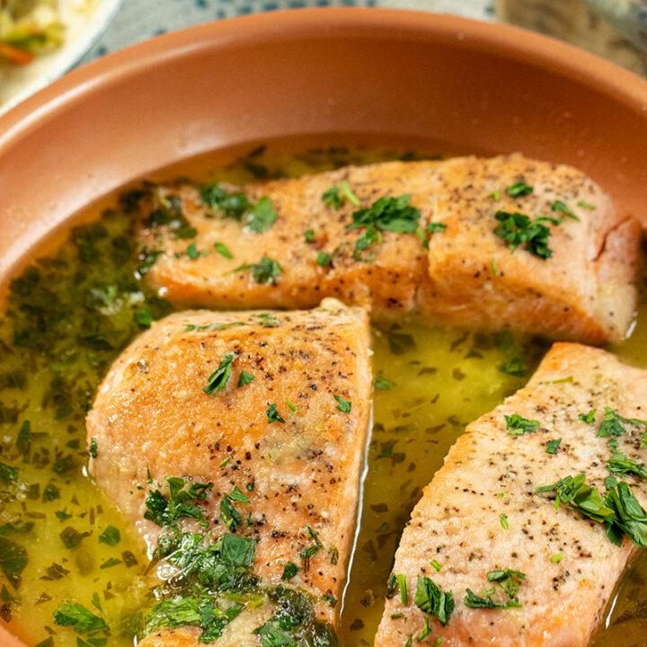 Salmon in a Lemon Butter Sauce