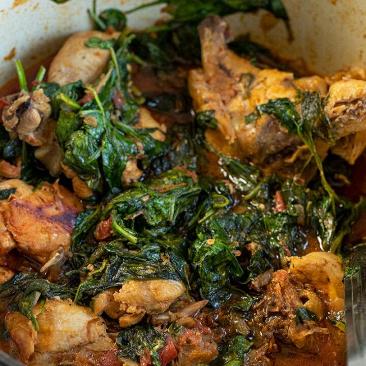 Chicken Stew with Spinach