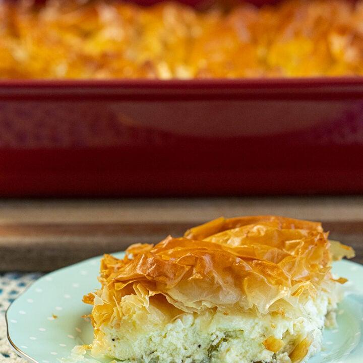 Tiropita:Greek Feta & Phyllo Pie