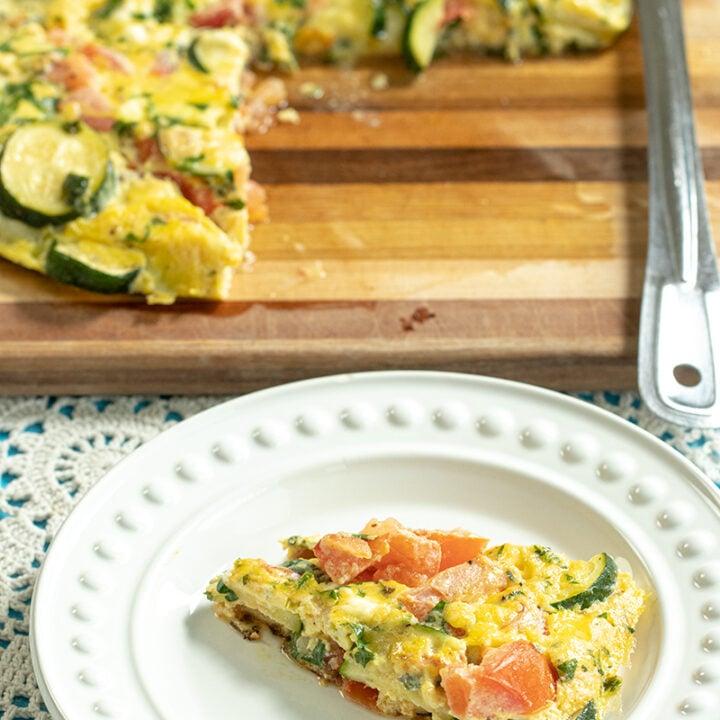 Zucchini & Feta Omelette from Crete