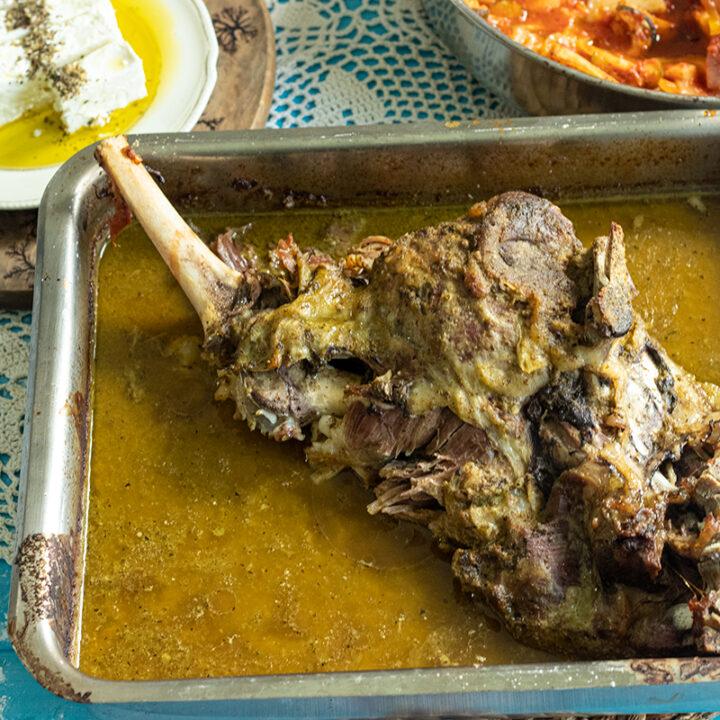 Roast Leg of Lamb with Yogurt Marinade