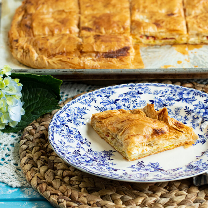 Greek Phyllo Pie filled with Turkey & Cheese