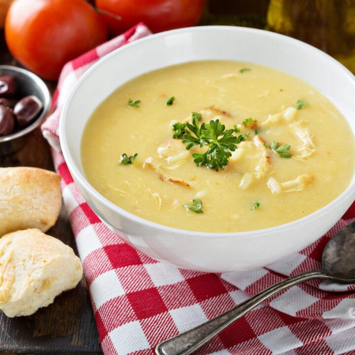 Instant Pot Greek Lemony Chicken & Orzo Soup