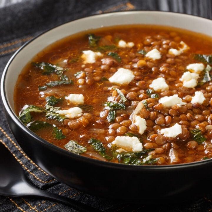 Instant Pot Greek Lentil Soup (Fakes)