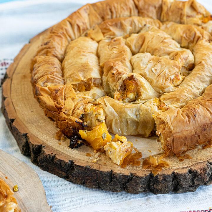Butternut Squash & Phyllo Pie (Strifti/Spiral)